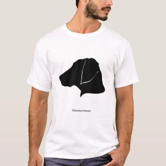 Weimaraner - black Silhouette T-Shirt