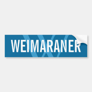 Weimaraner Breed Monogram Design Bumper Sticker