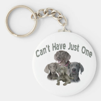 Weimaraner Can't Have Just One Key Ring