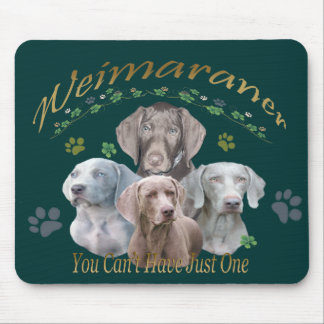 Weimaraner Can't Have Just One Mouse Mat