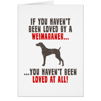 Weimaraner Card
