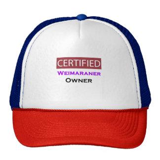 Weimaraner Certified Owner Cap