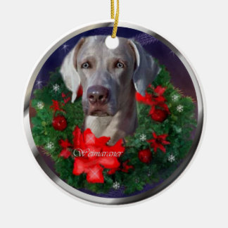 Weimaraner Christmas Gifts Christmas Ornament