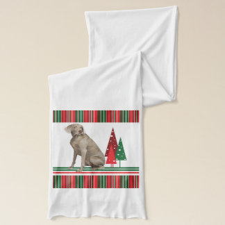 Weimaraner Christmas Scarf