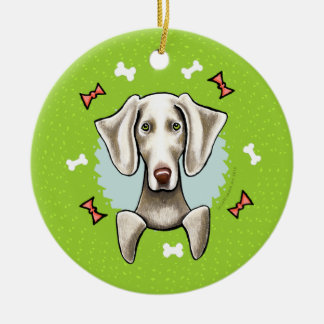 Weimaraner Christmas Wreath Christmas Ornament
