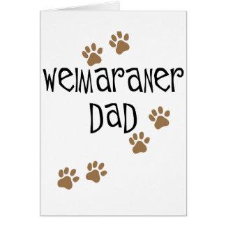 Weimaraner Dad Card
