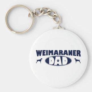 Weimaraner Dad Key Ring