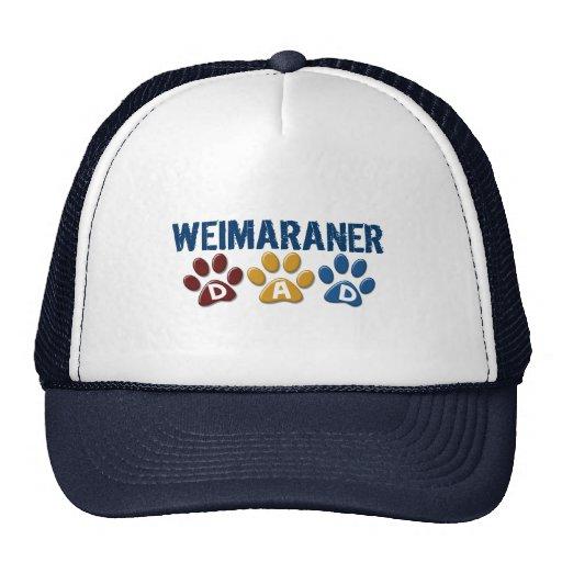 WEIMARANER Dad Paw Print 1 Mesh Hat