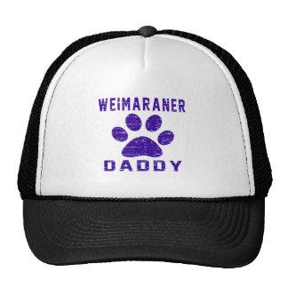 Weimaraner Daddy Gifts Designs Mesh Hats