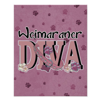 Weimaraner DIVA Posters