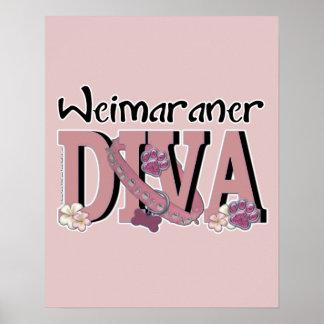 Weimaraner DIVA Print