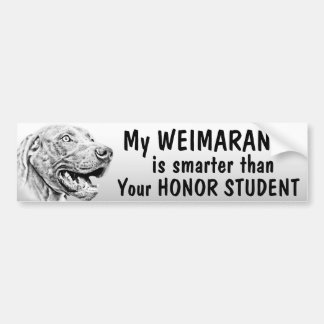 Weimaraner dog bumper sticker