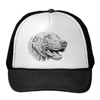 Weimaraner dog trucker hat
