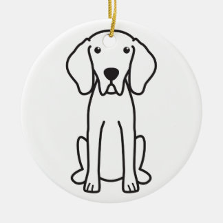 Weimaraner Dog Cartoon Christmas Ornament