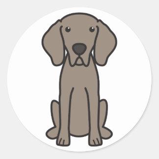 Weimaraner Dog Cartoon Classic Round Sticker