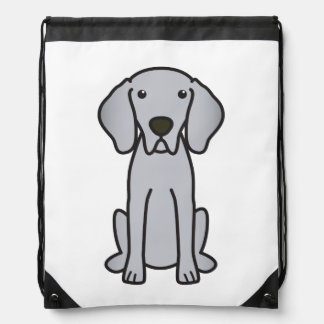 Weimaraner Dog Cartoon Drawstring Bag