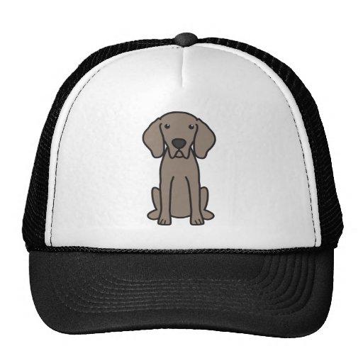 Weimaraner Dog Cartoon Mesh Hats