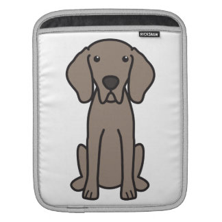 Weimaraner Dog Cartoon iPad Sleeve