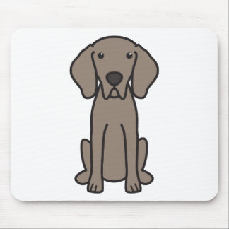 Weimaraner Dog Cartoon Mouse Mat
