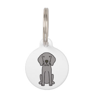 Weimaraner Dog Cartoon Pet Nametags