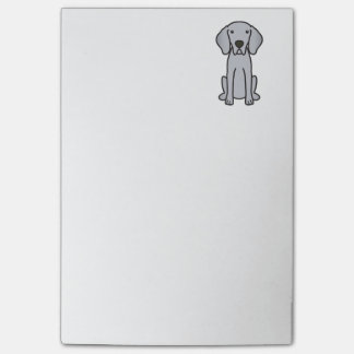 Weimaraner Dog Cartoon Post-it Notes