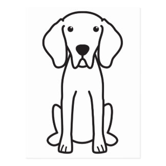 Weimaraner Dog Cartoon Postcard