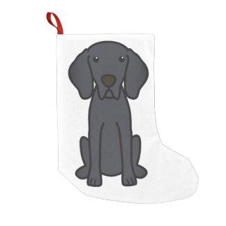 Weimaraner Dog Cartoon Small Christmas Stocking