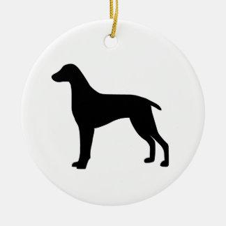 Weimaraner Dog Christmas Ornament