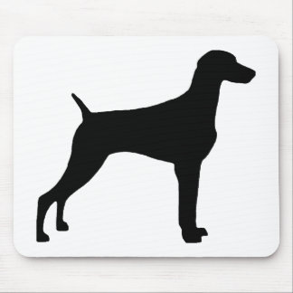 Weimaraner Dog (in black) Mouse Mat