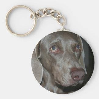 Weimaraner Dog Keychain