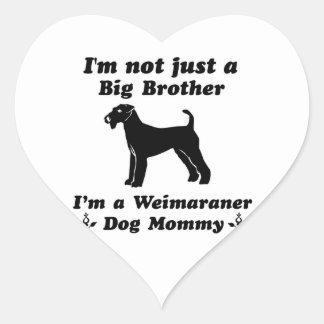 Weimaraner Dog mommy Designs Heart Sticker