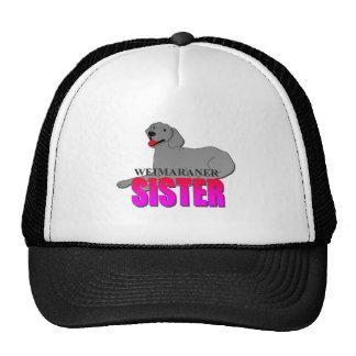 Weimaraner Dog Sister Trucker Hat