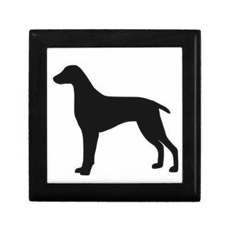 Weimaraner Dog Small Square Gift Box