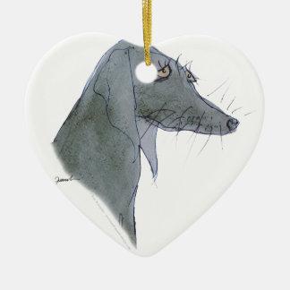 Weimaraner dog, tony fernandes christmas ornament