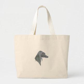 Weimaraner dog, tony fernandes large tote bag