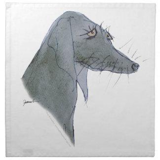 Weimaraner dog, tony fernandes napkin