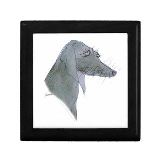 Weimaraner dog, tony fernandes small square gift box