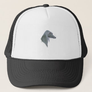 Weimaraner dog, tony fernandes trucker hat