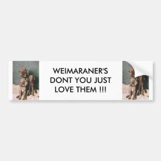 WEIMARANER DON'T YOU JUST LOVE THEM BUMPER STICKER