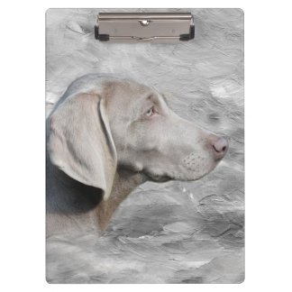 Weimaraner face clipboard