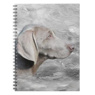 Weimaraner face notebooks