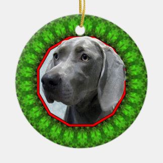 Weimaraner Happy Howliday Christmas Ornament