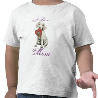 Weimaraner Heart Mom T Shirt