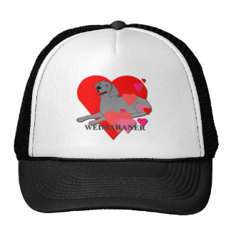Weimaraner Hearts Trucker Hat