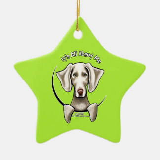 Weimaraner IAAM Christmas Ornament