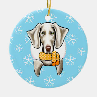 Weimaraner Let it Snow Christmas Ornament