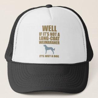 Weimaraner Long Coated Trucker Hat