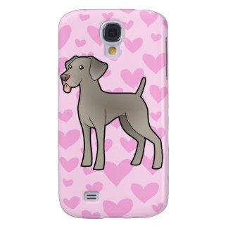 Weimaraner Love (add your own pern) Galaxy S4 Case