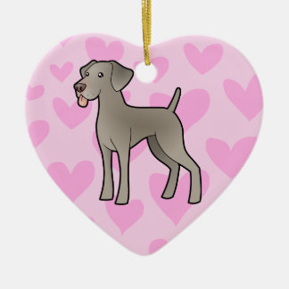 Weimaraner Love Christmas Ornament