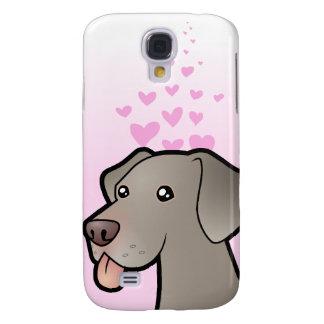 Weimaraner Love Galaxy S4 Case